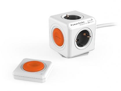 Prelungitor PowerCube Extended 4 prize 1.5m cu telecomanda, Allocacoc