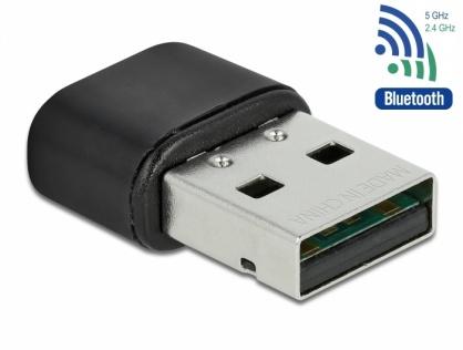 Adaptor 2 in 1 Bluetooth 4.2 + adaptor USB Dual band WLAN ac/a/b/g/n 433 Mbps, Delock 61000
