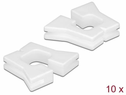 Set 10 buc protectie cabluri dreptunghiular - diametru 4.5 x 4.4 mm Alb, Delock 60263