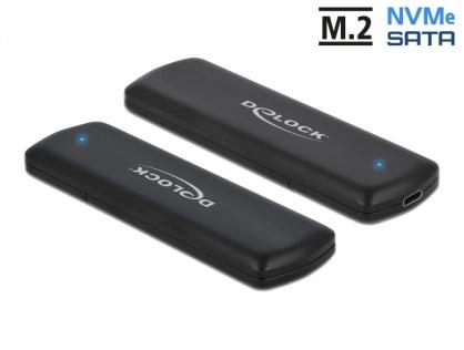 Rack extern combo USB type C pentru SSD M.2 PCIe/NVME sau SATA, Delock 42633