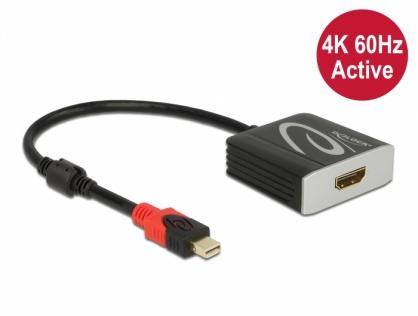 Adaptor activ mini DisplayPort 1.4 la HDMI 4K@60 Hz (HDR), Delock 65302