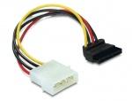 Cablu de alimentare SATA unghi 90 grade la Molex 4 pini, Delock 60101