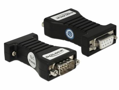 Isolator Serial RS-232 DB9 la Serial RS-232 DB9 M-T 3kV, Delock 62921