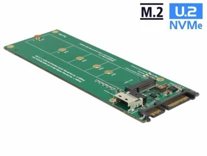 Convertor U.2 SFF-8654/SATA la M.2 Key M, Delock 63953