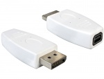 Adaptor DisplayPort la mini DisplayPort T-M alb, Delock 65240