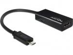 Adaptor MHL la HDMI + micro USB-B T-M 11 pini (Samsung S3,S4,S5), Delock 65437