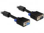 Cablu prelungitor SVGA 15T-15M ecranat 10m, Delock 82567