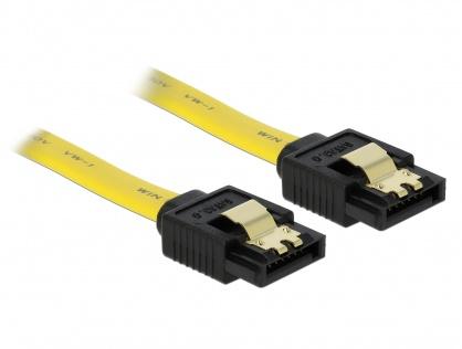 Cablu SATA III 6 Gb/s drept cu fixare 50cm, Delock 82809