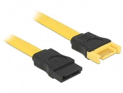 Cablu prelungitor SATA III 6 Gb/s T-M 50cm, Delock 82854