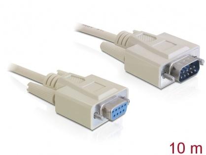 Cablu prelungitor serial RS232 DB9 T-M 10m, Delock 82979