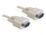 Cablu serial RS-232 D-sub 9 pini T - T 1m, Delock 82980
