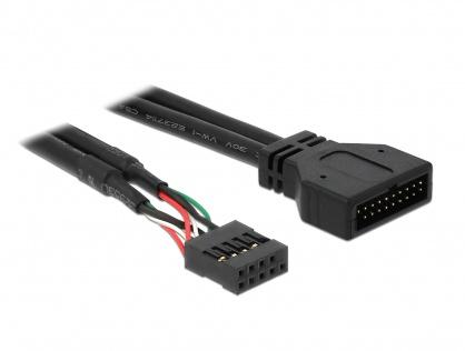 Cablu pin header USB 2.0 la USB 3.0 M-T, Delock 83281