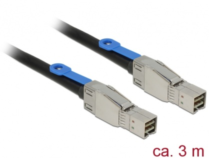 Cablu Mini SAS HD SFF-8644 la Mini SAS HD SFF-8644 3m, Delock 83396