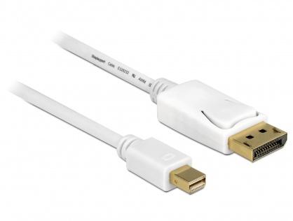 Cablu Mini Displayport la Displayport 4K T-T Alb 2m, Delock 83482