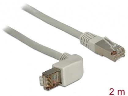 Cablu RJ45 Cat.5e SFTP unghi/drept 2m, Delock 83516