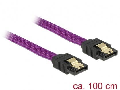 Cablu SATA III 6 Gb/s 100cm drept Premium, Delock 83692