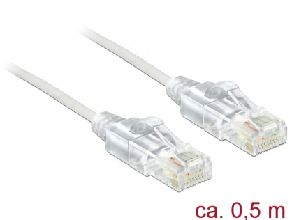 Cablu RJ45 Cat.6 UTP Slim 0.5m, Delock 83780