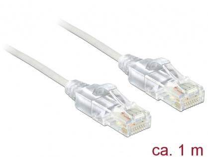 Cablu RJ45 Cat.6 UTP Slim 1m, Delock 83781