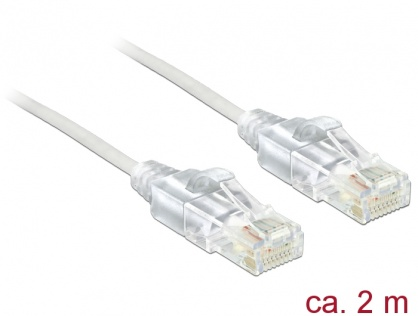 Cablu RJ45 Cat.6 UTP Slim 2m, Delock 83782