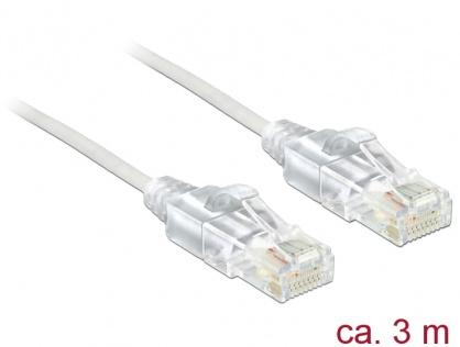 Cablu RJ45 Cat.6 UTP Slim 3m, Delock 83783