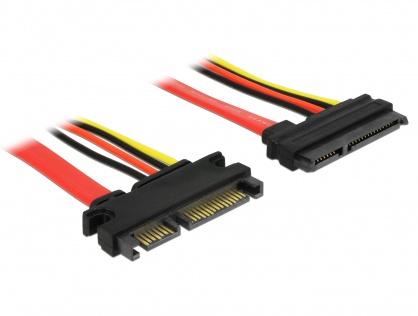 Cablu prelungitor SATA III 22 pini 6 Gb/s T-M (5V+12V) 10cm, Delock 83802