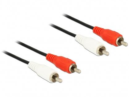 Cablu audio 2 X RCA - 2 X RCA T-T 1.5M, Delock 84003