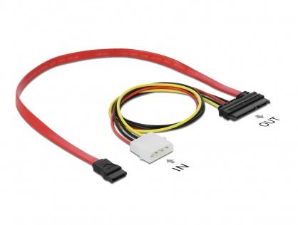 Cablu date + alimentare SATA 22 pini 0.4m, Delock 84230