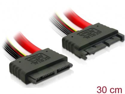 Cablu prelungitor micro SATA 16 pini T-M 30cm, Delock 84385