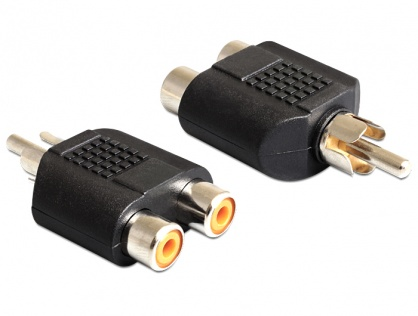 Adaptor 2 x RCA la 1 x RCA M-T, Delock 84499