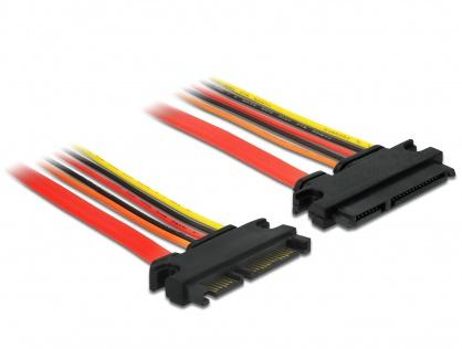 Cablu prelungitor SATA III 22 pini 6 Gb/s T-M (3.3V+5V+12V) 10cm, Delock 84917