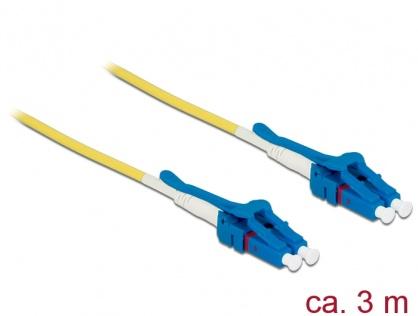 Cablu fibra optica LC - LC Singlemode OS2 Uniboot 3m, Delock 85085