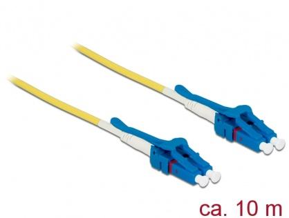 Cablu fibra optica LC - LC Singlemode OS2 Uniboot 10m, Delock 85087