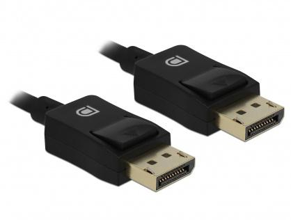Cablu Displayport coaxial 8K60Hz T-T 3m Negru, Delock 85302