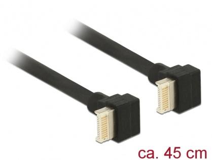 Cablu USB 3.1 Gen 2 key B 20 pini T-T 45cm Negru, Delock 85328