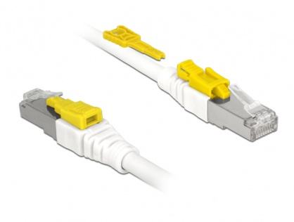 Cablu de retea RJ45 cat 6A cu sistem de blocare 1m, Delock 85331
