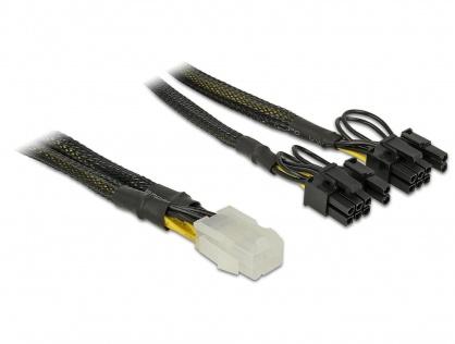 Cablu de alimentare PCI Express 6 pini la 2 x 8 pini M-T 30cm, Delock 85455