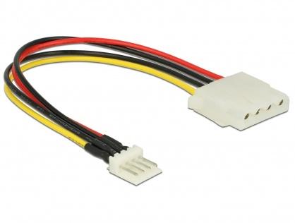 Cablu de alimentare Floppy 4 pini la Molex T-M 15cm, Delock 85456