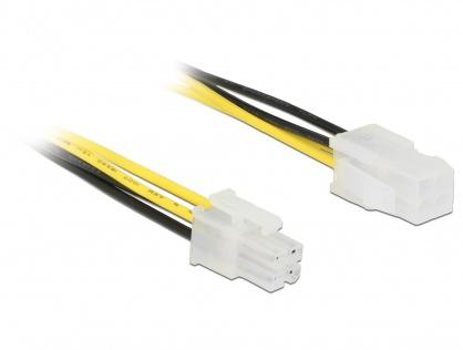 Cablu prelungitor alimentare P4 4 pini T-M 50cm, Delock 85458
