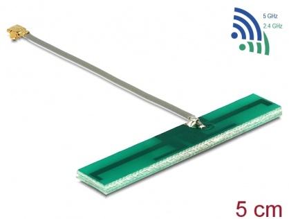 Antena WLAN MHF/U.FL-LP-068 Compatibila 802.11 ac/a/h/b/g/n 3 dBi 50 mm PCB Intern, Delock 86246
