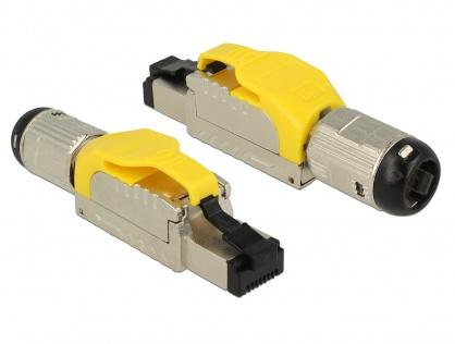 Conector de ansamblat RJ45 cat 6A pentru fir solid metal, Delock 86287