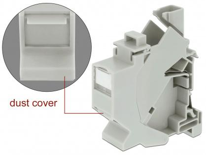 Carcasa Keystone pentru montare DIN rail cu protectie praf, Delock 86292