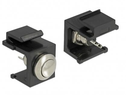 Keystone negru cu buton Push, Delock 86402