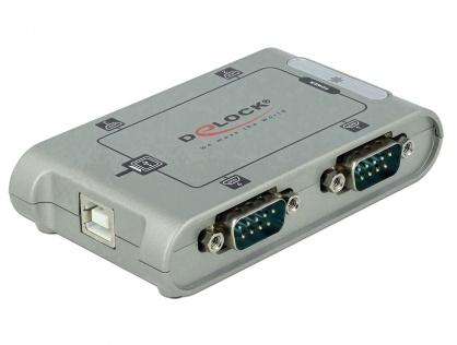Adaptor USB la 4 x Serial RS-232, Delock 87414