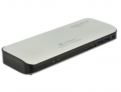 Docking Station 5K Thunderbolt 3 la HDMI / USB 3.0 / USB-C / SD / LAN, Delock 87725