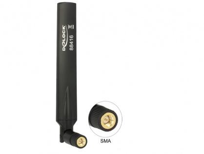 Antena cu cot flexibil GSM / UMTS SMA, Delock 88416