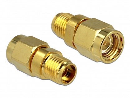 Adaptor RP-SMA Plug la SMA Jack, Delock 88728
