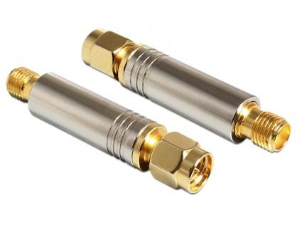 Adaptor SMA plug la SMA jack DC short circuit 4.7 kOhm, Delock 88750