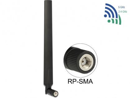 Antena WLAN 802.11 ac/a/h/b/g/n RP-SMA 5 - 7 dBi omnidirectional, Delock 88899