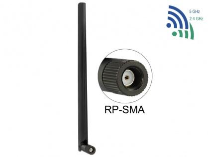 Antena WLAN RP-SMA 802.11 ac/a/h/b/g/n 3 ~ 6 dBi Omnidirectionala, Delock 88900