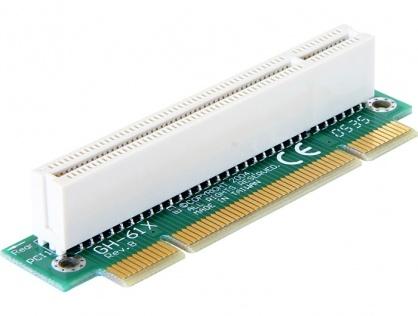 Riser card PCI 32 biti unghi 90 grade insertie stanga, Delock 89071